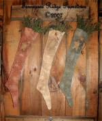 Americana Stockings With Crow Pattern
