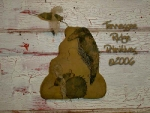 Primitive grungy Beehive With Crows Door Hanger E-pattern