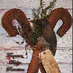 Primitive Candy Cane N Crow Door Hanger E-pattern