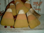 Primitive Dirty Grungy Candy Corn Ornies E-pattern