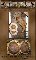 Primitive Grungy Crow Door Doll With Daisies OR Sunflowers & Ladybug Pattern