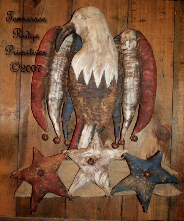 Primitive Americana Eagle Door Doll With Star Banner E-Pattern