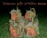 Primitive grungy Fall Pumpkins & Crows E-pattern