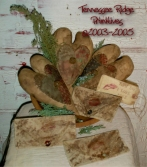 Primitive Dirty Grungy Heart & Love Letter Ornies