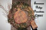 Primitive Grungy Ladybug & Crow Wreath Door Hanger Pattern