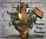 Primitive Grungy Christmas Mouse In Snowman Hat Lamp Pattern