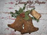 Primitive Christmas Rusty Jingle Bells & Holly Door Hanger Pattern