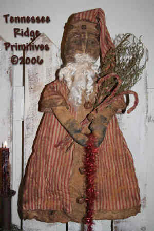 Primitive Grungy Dirty Santa Door Doll Pattern