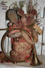 Primitive Christmas Quilt Santa Bag Of ToysBear & Doll Pattern