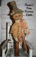 Primitive Grungy Christmas Snowman & Candy Cane Make Do Pattern