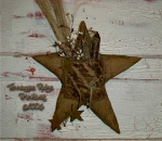 Primitive Dirty Grungy Star Door Hanger