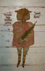 Primitive Dirty Grungy Sweet Raggedy Annie Doll E-pattern