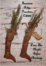 Primitive Christmas Stocking & Santa Mouse E-pattern