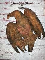 Primtiive Grungy Valentines Crow Door Doll Pattern