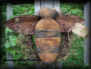 Primitive Grungy Bumble Bee Wreath Door Hanger Pattern