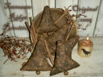 Primitive Dirty Grungy Rusty Jingle Bell Ornies Pattern