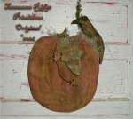 Primitive Grungy Pumpkin & Crow Door Hanger E-pattern