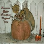 Primitive grungy Fall Pumpkin Crow & Sunflower Doll E-pattern