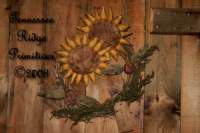 Primitive Grungy Sunflowers & Ladybugs Wreath Door Hanger Pattern
